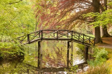 covered bridge: Old wooden bridge