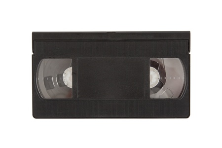 reminisce: Very old videotape (video cassette) isolated on the white background
