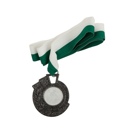 Old medal isolated on a white background photo