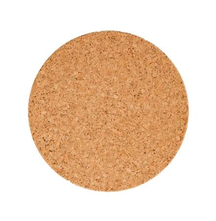 trivet: Circular cork trivet isolated on a white background