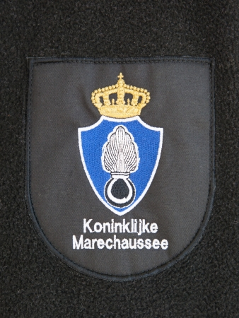 Clothing of the dutch military police, close-up