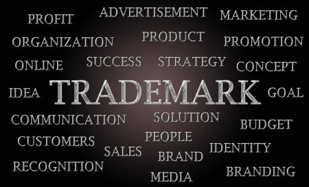 elearn: Trademark word cloud written in luxurious chrome letters