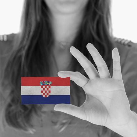 businesscard: Businesscard, Croatia Stock Photo