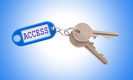Key with Access label isolated on white background photo