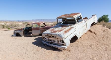 Abandoned car in the Namib Desert, Namibia