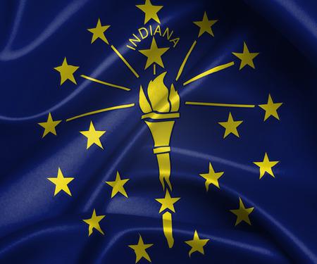 indiana: flag of Indiana Stock Photo