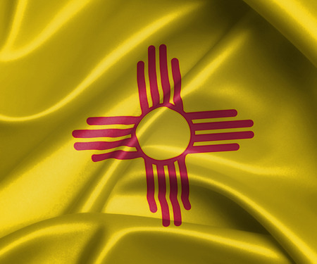 Satin flag, three dimensional render, flag of New Mexico photo