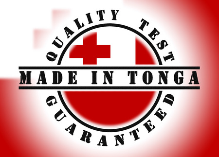 tonga: Quality test guaranteed stamp with a national flag inside, Tonga