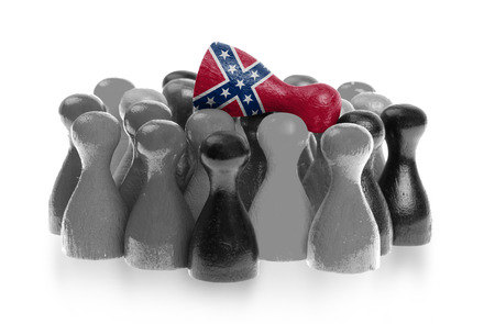 confederacy: One unique pawn on top of common pawns, confederate flag