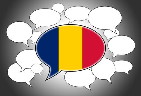 Communication concept - Speech cloud, the voice of Romania photo