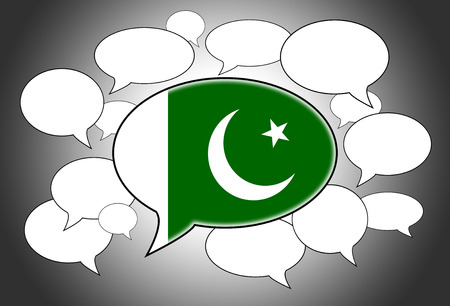 pakistani: Communication concept - Speech cloud, the voice of Pakistan