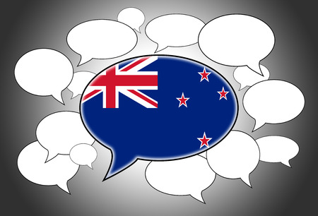 Communication concept - Speech cloud, the voice of New Zealand photo