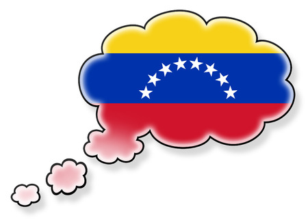 flag of Venezuela in the cloud, isolated on white background photo
