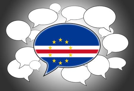 cape verde: Speech bubbles concept - the flag of Cape Verde