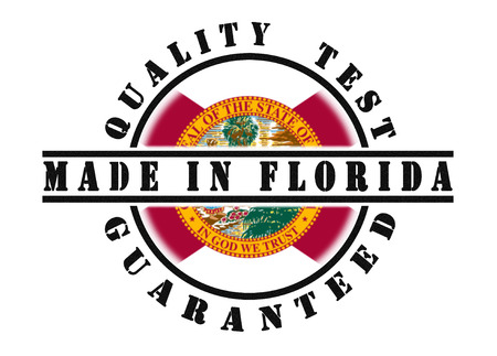 to refuse: Quality test guaranteed stamp with a state flag inside, Florida