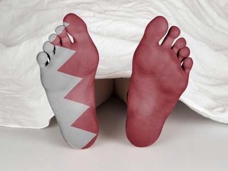 coroner: Dead body under a white sheet, suicide, murder or natural death, Bahrain
