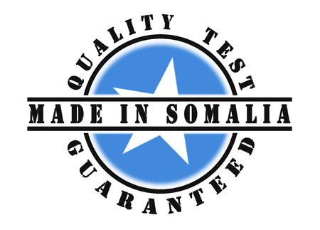 somalian flag: Quality test guaranteed stamp with a national flag inside, Somalia