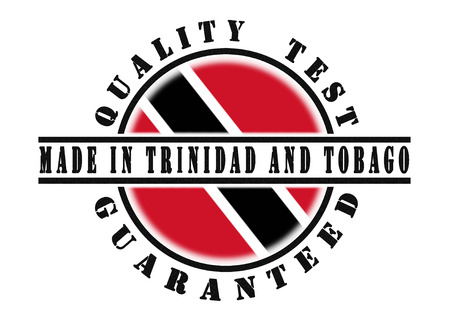 national flag trinidad and tobago: Quality test guaranteed stamp with a national flag inside, Trinidad and Tobago