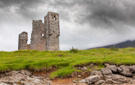 Ruins of an old castle in Scotland photo