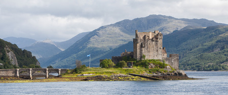 scotland landscape: Ruins of an old castle in Scotland Stock Photo