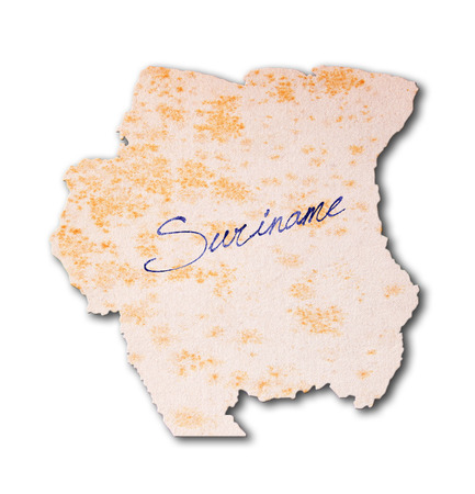 suriname: Old paper with handwriting, blue ink - Suriname Stock Photo