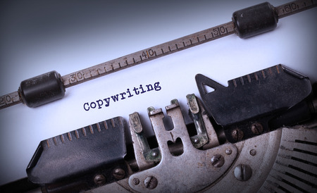 copywriting: Vintage inscription made by old typewriter, Copywriting