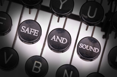 safe and sound: Typewriter with special buttons, safe and sound