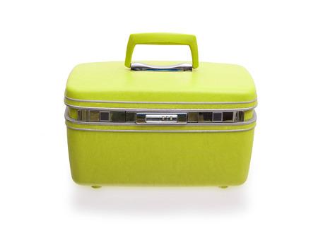 beaty: Vintage beaty case or make-up case isolated on white Stock Photo