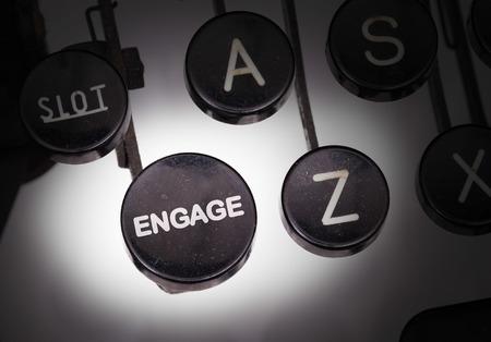 Typewriter de boutons spéciaux, de se engager