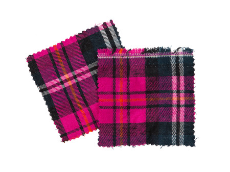 checked fabric: Small piece of the bright scottish checked fabric, pink