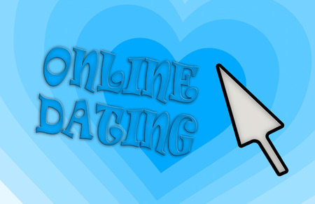community recognition: Heart shape backgound - Concept of dating - blue Stock Photo