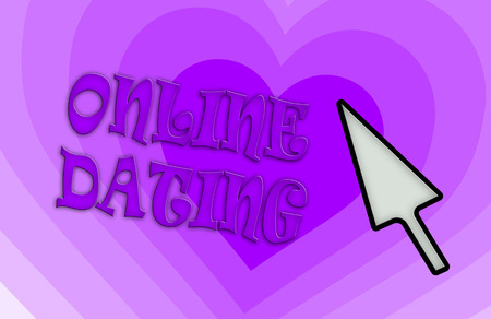 community recognition: Heart shape backgound - Concept of dating - purple