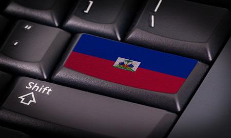 haiti: Flag on button keyboard, flag of Haiti