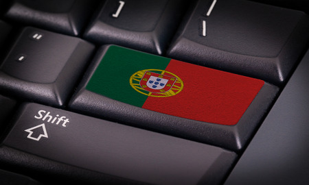 portugese: Flag on button keyboard, flag of Portugal