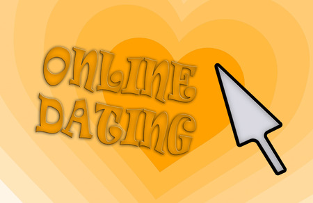 community recognition: Heart shape backgound - Concept of dating - orange Stock Photo