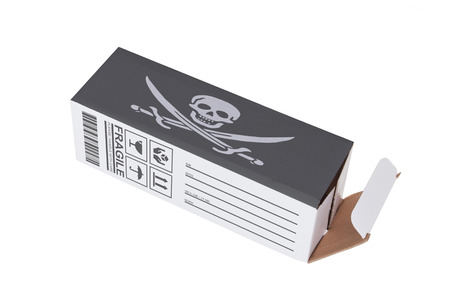 illegal trading: Concept of export, opened paper box - Illegal product Stock Photo