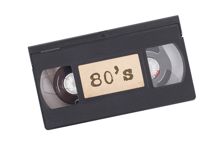 vcr: Retro videotape isolated on a white background - 80s Stock Photo