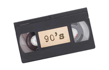 videotape: Retro videotape isolated on a white background - 90s