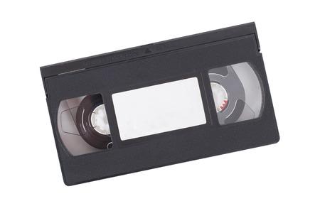 흰색 배경에 -XXXXXXXXXXX 격리 복고풍 비디오 테이프 스톡 콘텐츠