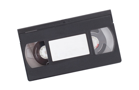 Retro videotape isolated on a white background - XXXXXXXXXXX