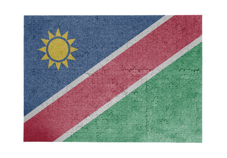 linkages: Large jigsaw puzzle of 1000 pieces - Namibia flag Stock Photo