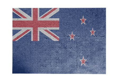 Large jigsaw puzzle of 1000 pieces - New Zealand flag
