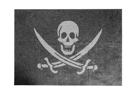 Large jigsaw puzzle of 1000 pieces - Pirate flag