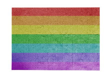 rainbow flag: Large jigsaw puzzle of 1000 pieces - Rainbow flag Stock Photo