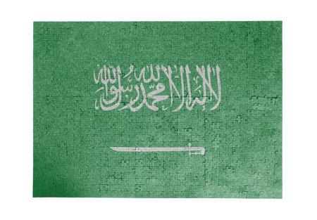 linkages: Large jigsaw puzzle of 1000 pieces - Saudi Arabia flag
