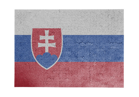 slovakia flag: Large jigsaw puzzle of 1000 pieces - Slovakia flag Stock Photo