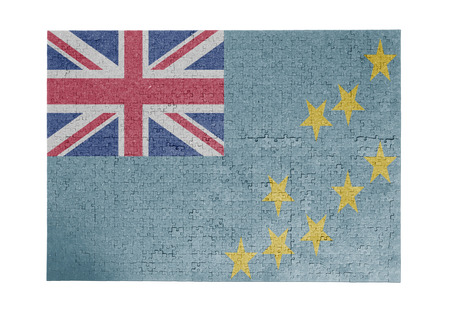 linkages: Large jigsaw puzzle of 1000 pieces, Tuvalu flag Stock Photo