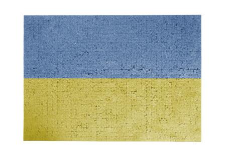 linkages: Large jigsaw puzzle of 1000 pieces - Ukraine flag Stock Photo