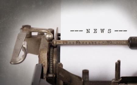 Vintage inscription faite par vieille machine à écrire, nouvelles Banque d'images