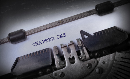 chapter: Vintage inscription made by old typewriter, Chapter one